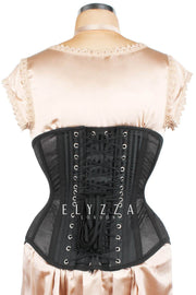 Black Mesh with Brocade Underbust Corset (ELC-501)