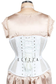 Mesh with White Brocade Underbust Corset (ELC-501)