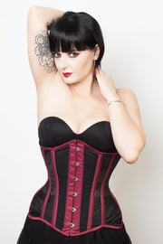 Mesh with Cotton Custom Made Magenta Waist Reducing Corset (ELC-102)