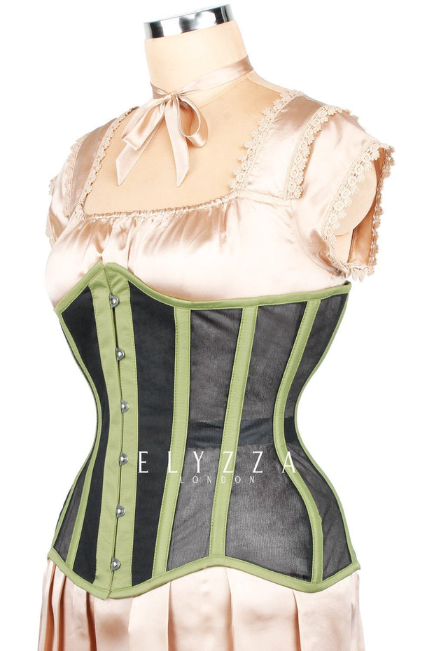 Mesh with Cotton Waist Reducing Corset (ELC-102)
