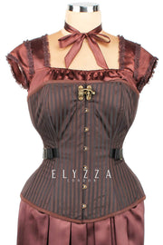 Brocade Steampunk Fan Lacing Corset (ELC-401)