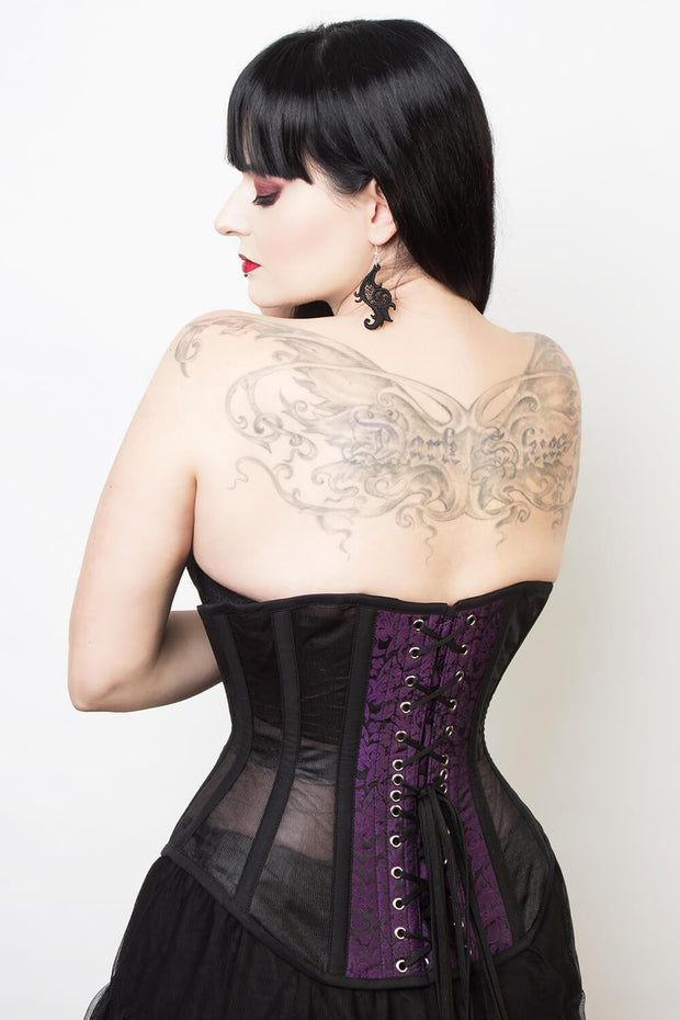 Mesh with Brocade Waist Reducing Corset (ELC-601)