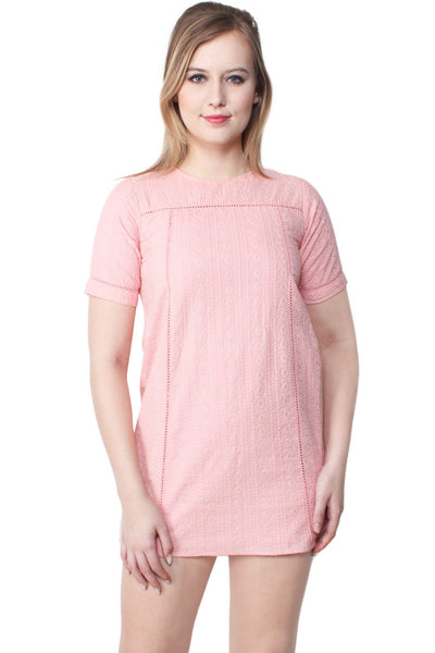 Ayvah Embroidered Cotton Shift Dress