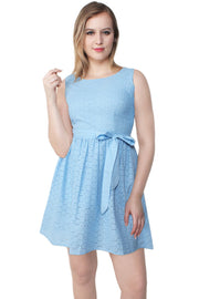 Kinleigh Embroidered Cotton Swing Dress