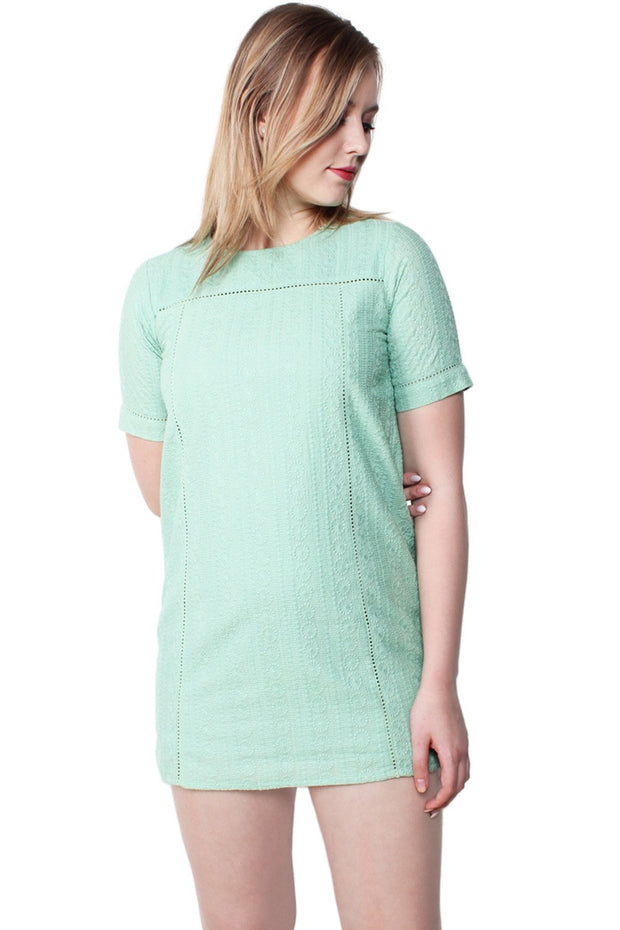 Tianna Embroidered Cotton Shift Dress