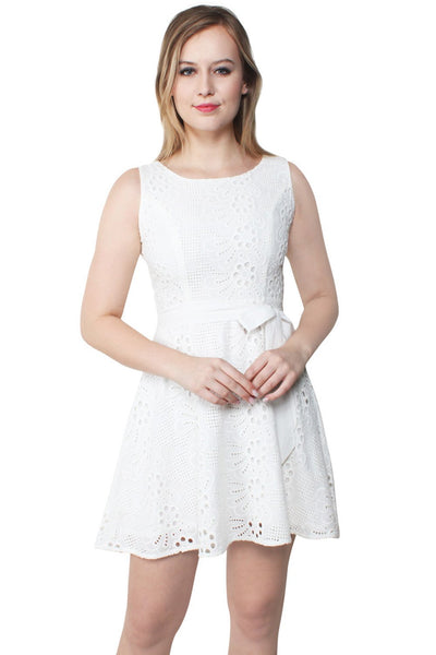Kamiyah Embroidered Cotton Swing Dress