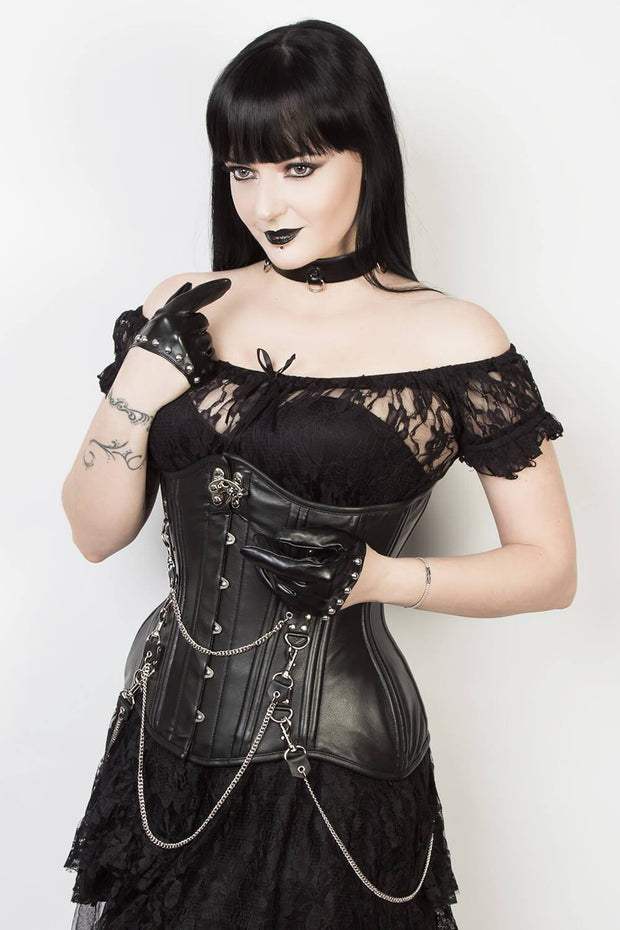 Leather Custom Made Gothic Waist Training Corset (ELC-102)