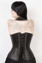 Waist Reducing Leather Overbust Corset (ELC-301)