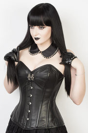 Waist Reducing Custom Made Leather Overbust Corset (ELC-301)