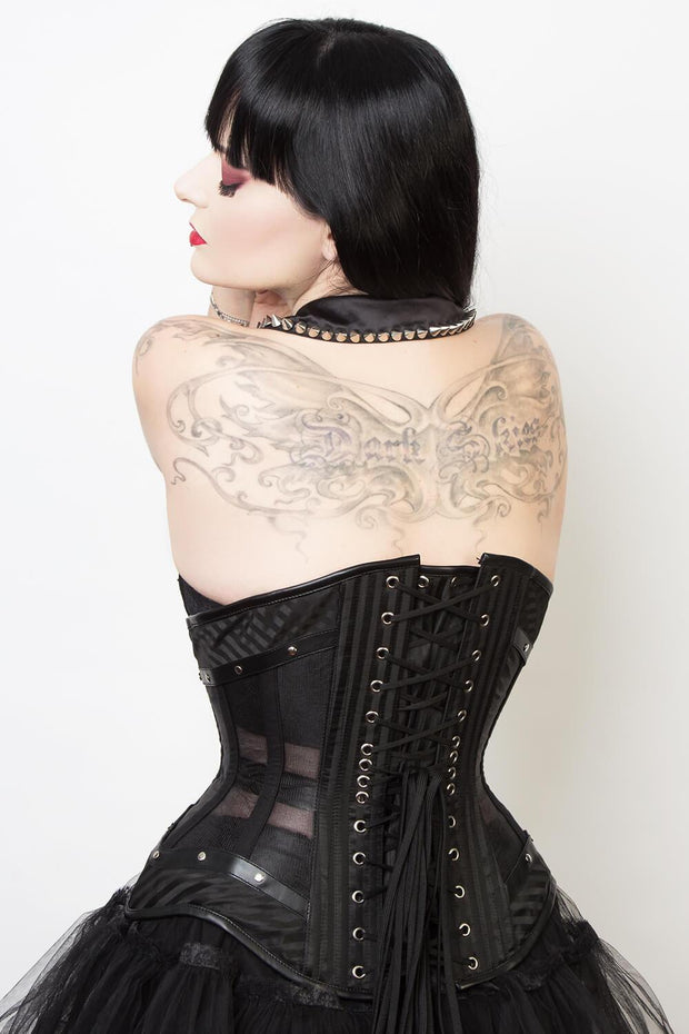 Lindsey Mesh with Brocade Gothic Corset (ELC-501)