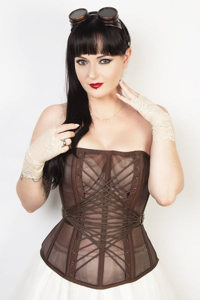 Edwardian Custom Made Steampunk Mesh Corset (ELC-401)