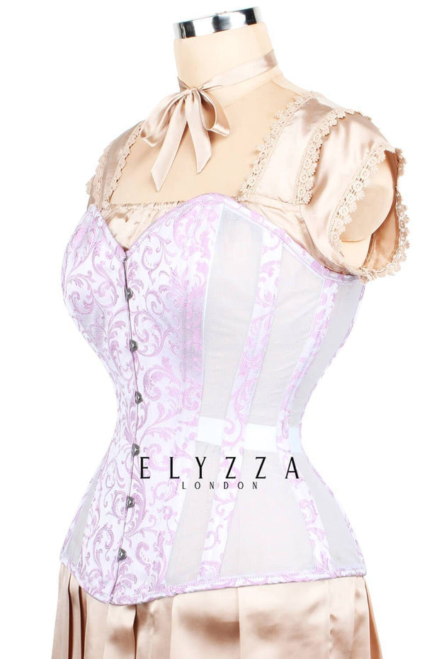 Mesh with Brocade Waist Training Corset (ELC-701)