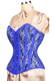 Mesh with Lace Overlay Waist Training Corset (ELC-701)