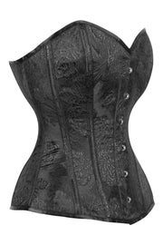 Black Brocade Waist Reducing Corset (ELC-701)
