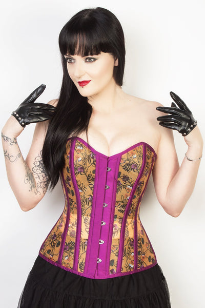 Floral Mesh Sweetheart Custom Made Corset (ELC-701)