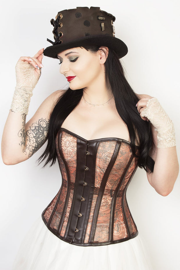 Sweet Heart Custom Made Steampunk Print Mesh Corset (ELC-801)