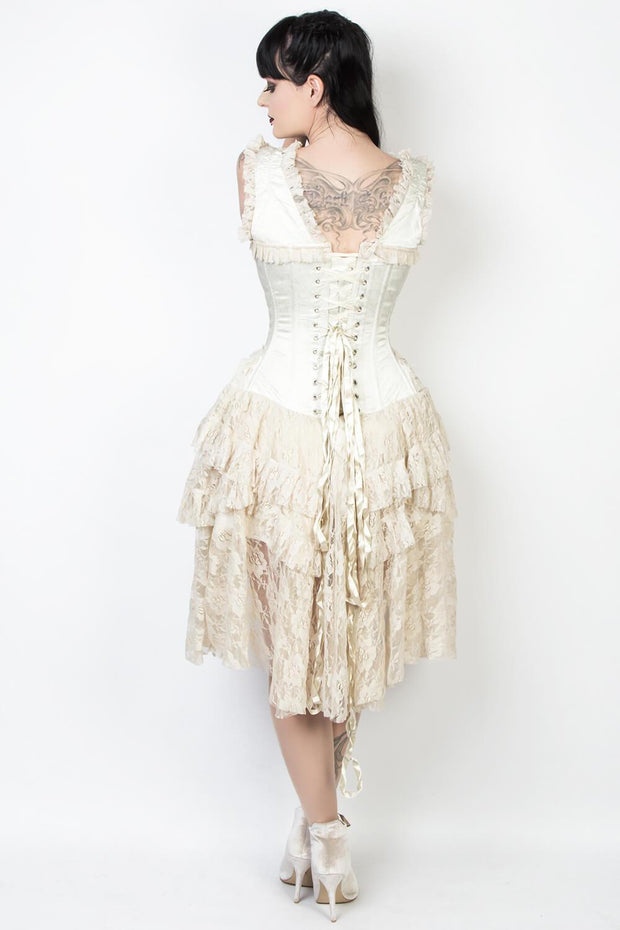 Printed Victorian Inspired Corset Dress