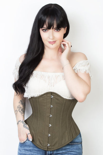 Waist Reducing Custom Made Underbust Cotton Corset (ELC-601)
