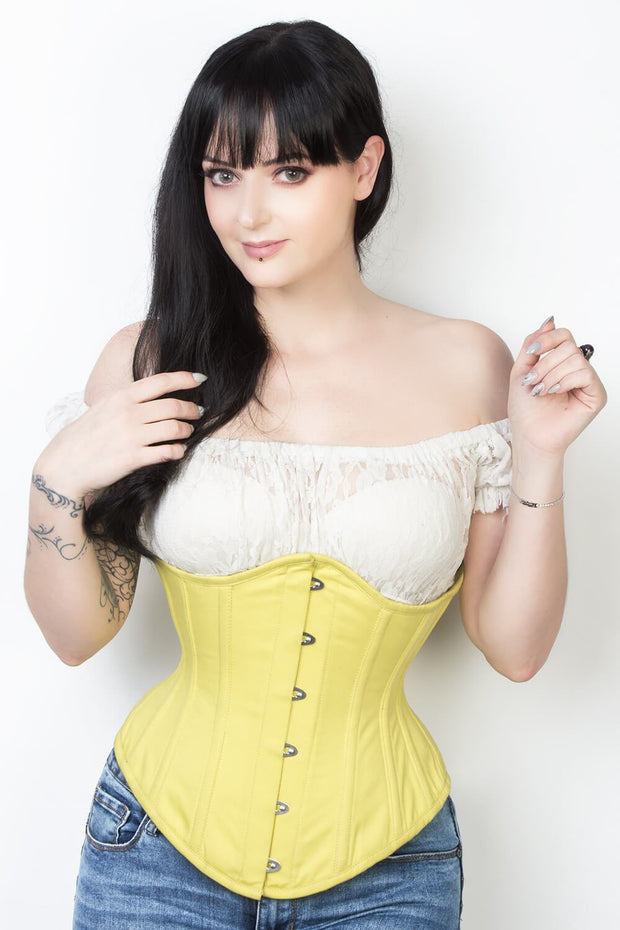 Cotton Steel Boned Underbust Corset (ELC-601)