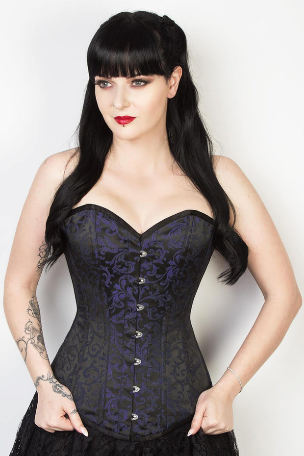 Gothic Custom Made Overbust Brocade Longline Corset