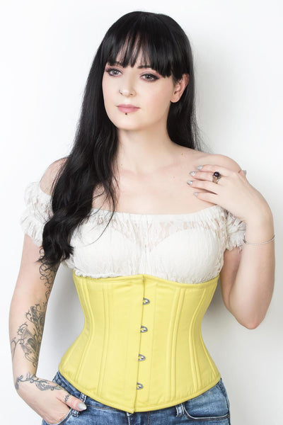 Steel Boned Cotton Waist Trainer Corset