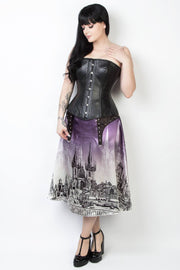 Printed Custom Made Gothic Skirt with Detachable Belt