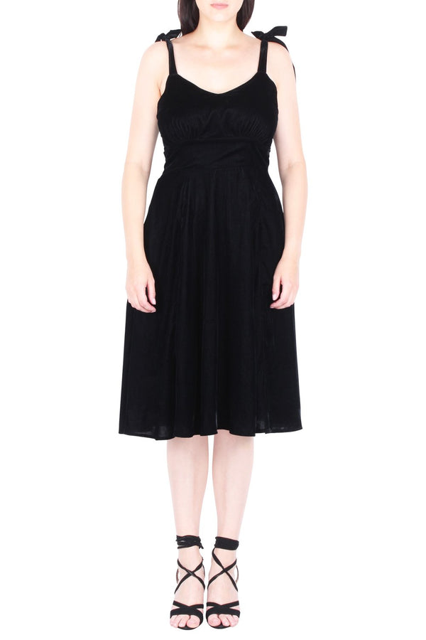 Waverly Fit And Flare Velvet Dress