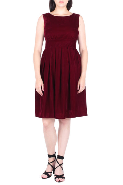 Delilah Velvet Fit And Flare Dress