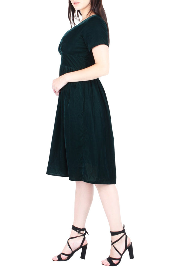 Wylda Velvet Fit & Flare Dress