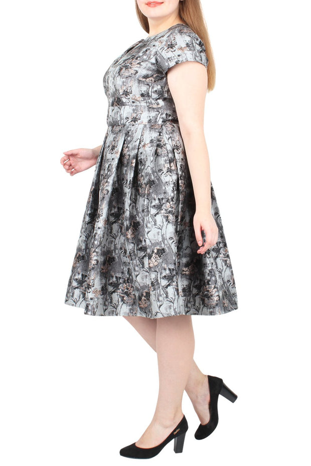 Keaton Fit & Flare Jacquard Dress