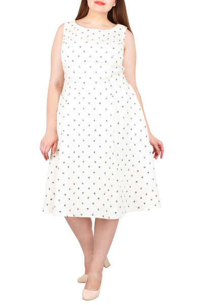 Moxie Swiss Dot Jacquard Dress