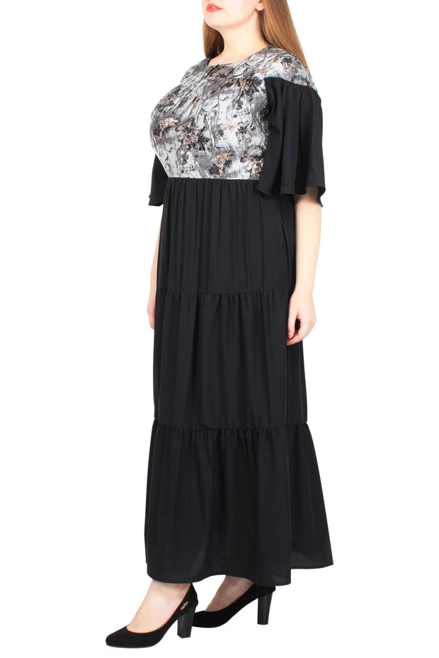 Idalina Ruffled Maxi Dress
