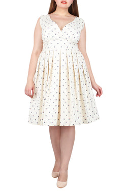 Jagger Fit & Flare Jacquard Dress