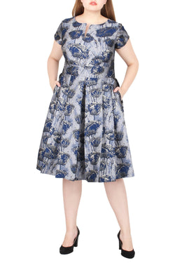 Jameson Floral Jacquard Dress