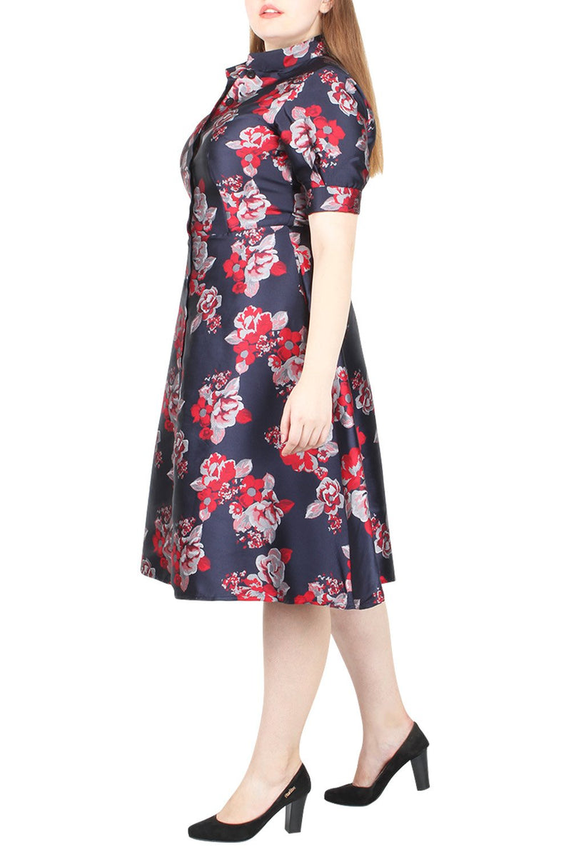 Quanda Jacquard Shirt Dress