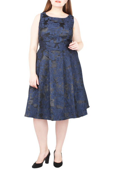 Timber Jacquard Fit & Flare Dress