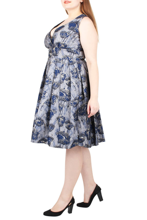 Jarrell Floral Jacquard Dress