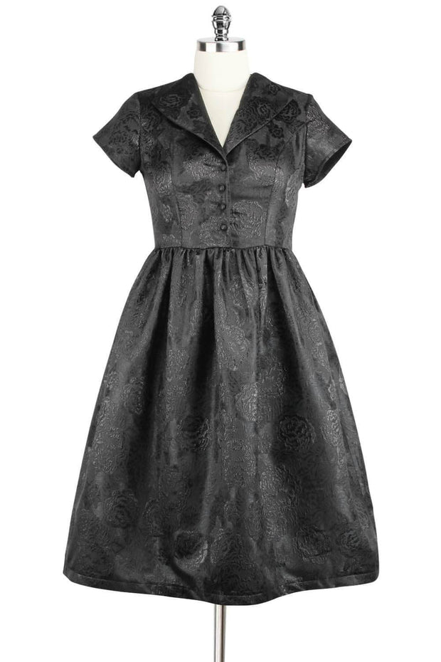 Elyzza London 1950s Style Fit and Flare Jacquard Dress