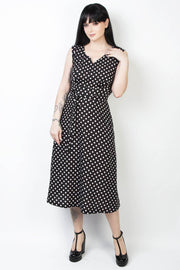 Elyzza London 1950s Style Sleeveless Polka Print Dress