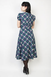Elyzza London Plaid Print Flared Dress