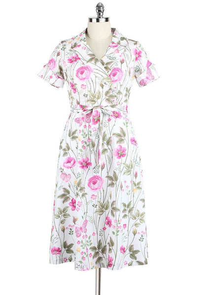 Elyzza London Floral Butterfly Print Flare Dress