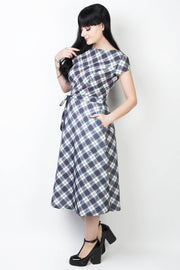 Elyzza London Plaid Print Fit and Flare Dress