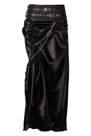 Jordyn Custom Made Gothic Black Bustle Skirt