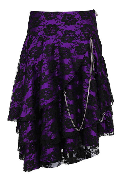 Anushka Custom Made Gothic Lace Overlay Skirt