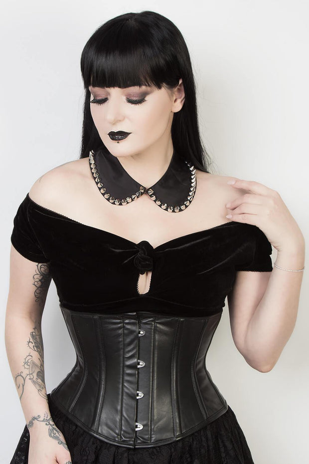 Underbust Custom Made Waspie Leather Corset