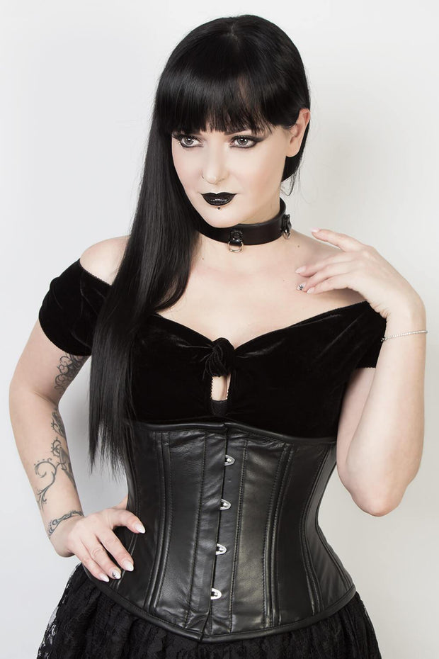 Plus Size Underbust Leather Standard Corset