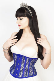 Underbust Custom Made Mesh with Lace Weave Waspie Corset