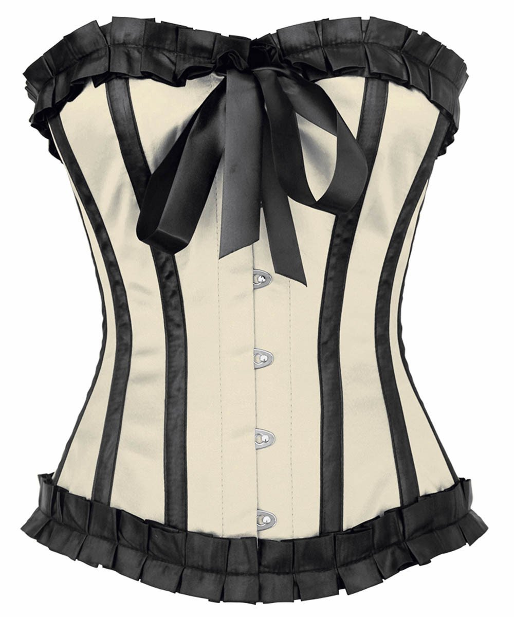 Quent Ivory Burlesque Overbust Corset