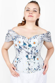 Mylee Floral Cotton Lined Overbust Corset