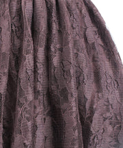 Joan Custom Made Brown Lace Gothic Skirt